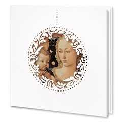 White Laser Cut Card With Religious Motif