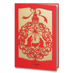 Red Laser Cut Religious Card