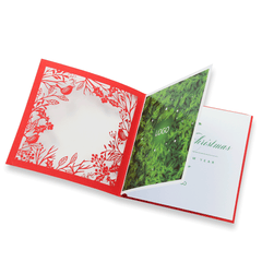 Laser Cut Red Christmas Card