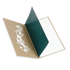 Laser Cut Christmas Card With Green Insert