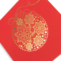 Red Gold Foil Bauble