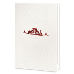 Embossed Red Foil Christmas Card