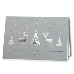 Grey Laser Cut Card With Silver Foil