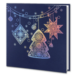 Holographic Foil Navy Blue Christmas Decorations