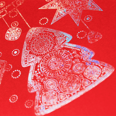 Holographic Foil Red Christmas Decorations