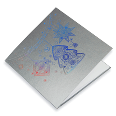 Holographic Foil Silver Christmas Decorations