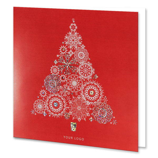 Red Holographic Foil Christmas Tree