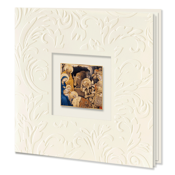 Religious Embossed Christmas Card