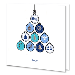 Business Christmas Tree With Silver Foil