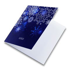 Navy Blue Christmas Card