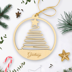 Personalised Wooden Christmas Tree