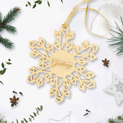 Personalised Wooden Snowflake