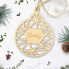 Personalised Wooden Christmas Bauble