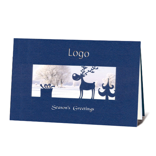 Laser Cut Navy Blue Reindeer
