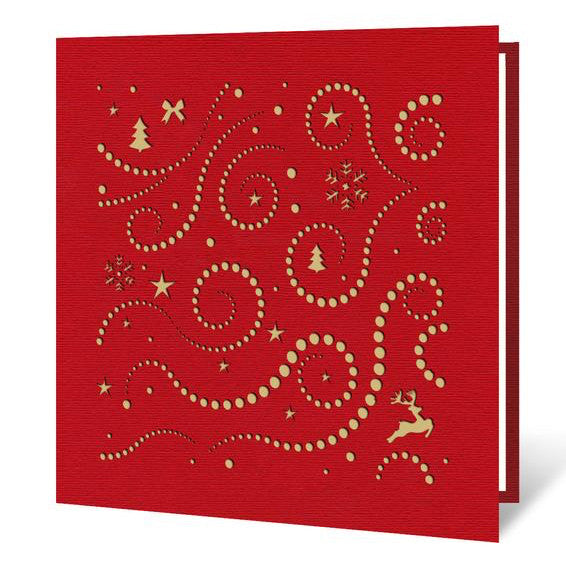 Reindeer Gold Christmas Card