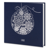 Navy Blue Silver Foil Bauble