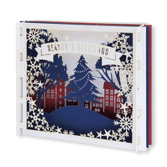 3D Laser Cut Christmas Card - Pop Up