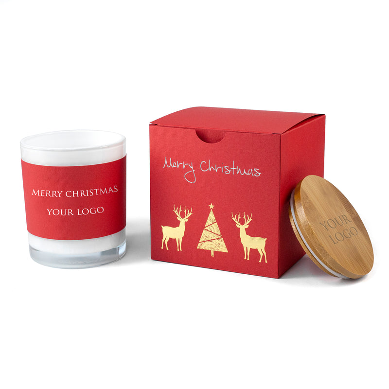 Personalised Corporate Christmas Gifts: Luxury Boxed Soy Candles