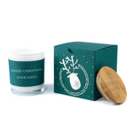 Corporate Christmas Gifts Ideas: Luxury Boxed Candles with Your Logo & Wishes