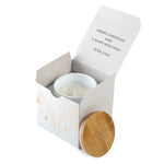 Corporate Christmas Gifts For Clients: Personalised Boxed Candles Raindeer