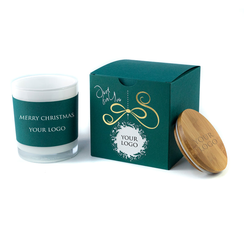 Elegant Corporate Christmas Gift: Boxed Candles Laser Cut Bauble