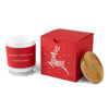 Corporate Gift With Laser Cut Raindeer Motif: Custom Soy Candle and Box