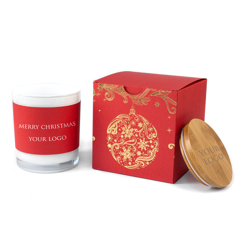 Corporate Christmas Gifts for Clients: Soy Candles in a Gold Foiled Boxes
