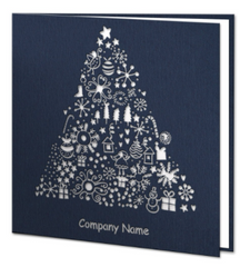 Navy Blue Laser Christmas Tree - Daria  / Salute FO Ltd