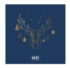 Navy Blue Gold Foil Reindeer for BaseCamp Group Limited