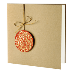 Red and Gold foil Bauble