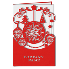 Red Laser Cut Card