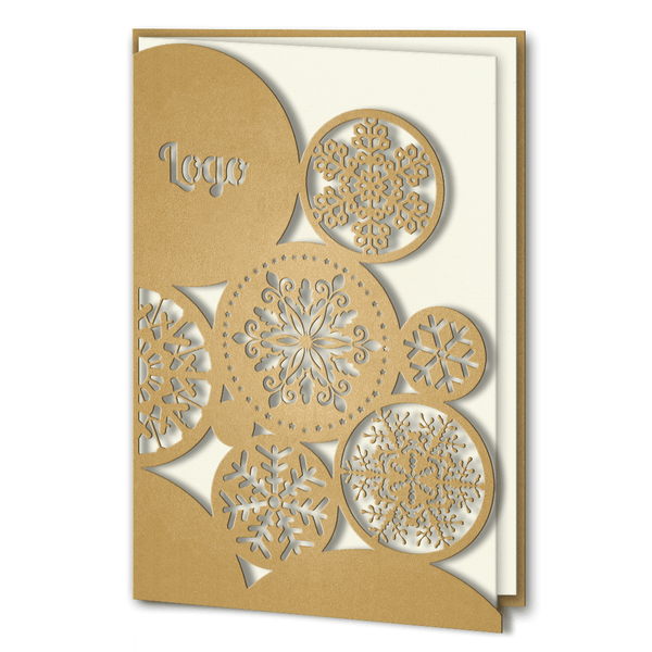 Gold Laser Cut Snowflakes