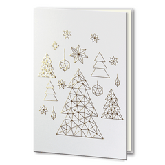 Gold Embossed Geometric Christmas Tree