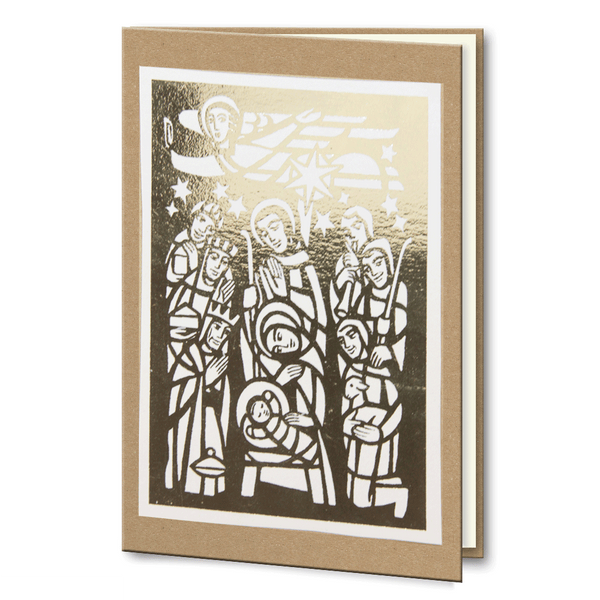 Kraft Gold Foil Nativity scene