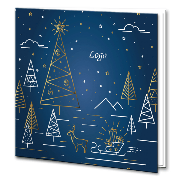 Navy and Foil Christmas scene
