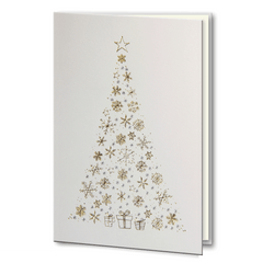 Gold and Silver foil Christmas Tree