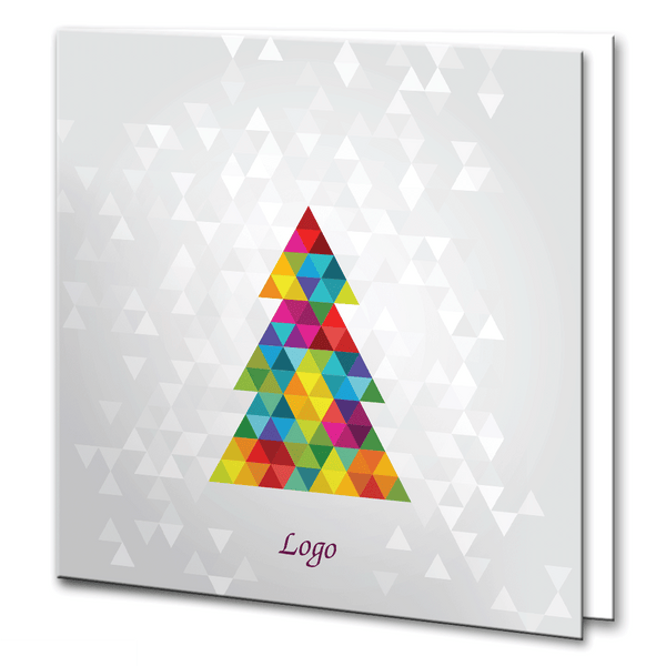 Colourful geometric Christmas Tree