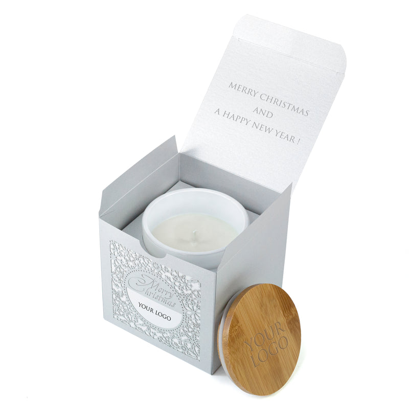 Unusual Corporate Christmas Gift - Custom Candle and Box