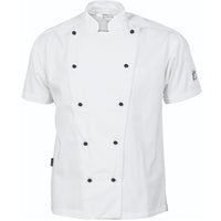 DNC's Cool-Breeze Cotton Chef Short Sleeve Jacket - Ace Workwear