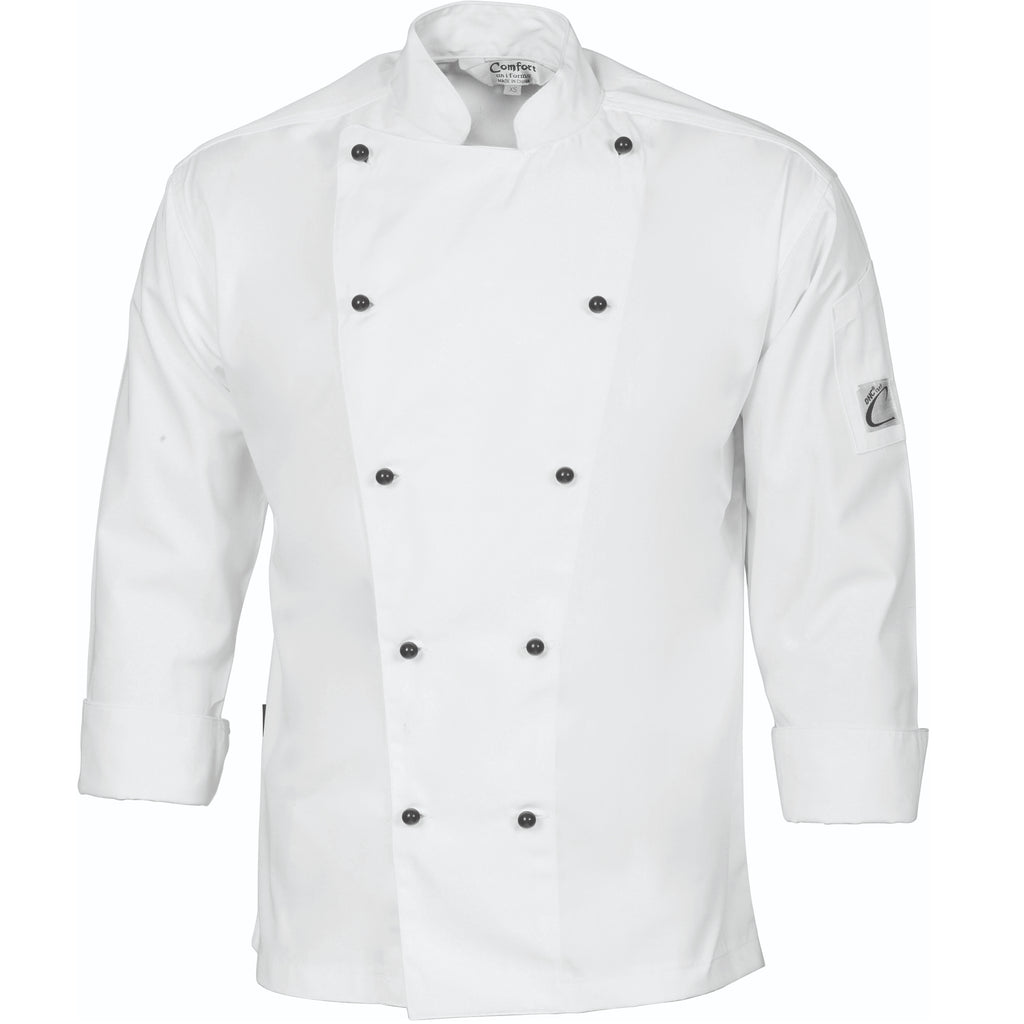 DNC's Cool-Breeze Cotton Chef Long Sleeve Jacket - Ace Workwear