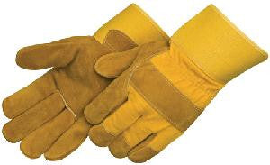 Yellow Cow Split Leather Gloves - Pack (12 Pairs) - Ace Workwear