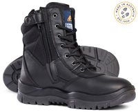 Mongrel 251020 Black High Leg Steel Cap Safety Zip Sided Boot (251020)