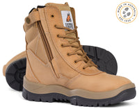 Mongrel 251050 Wheat High Leg Steel Cap Safety Zip Sided Boot (251050)