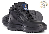 Mongrel 261020 Black Steel Cap Safety Zip Sided Boot (261020)
