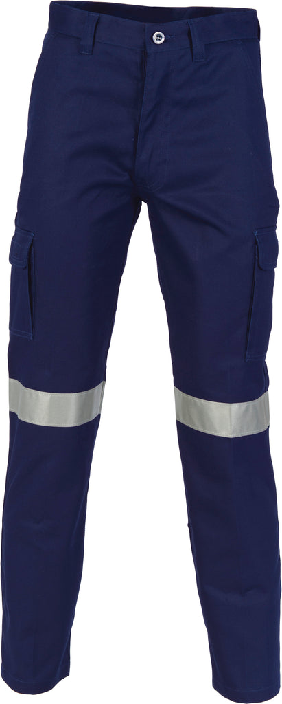 DNC Cotton Drill Cargo Pants With 3M Reflective Tape (3319) - Ace Workwear