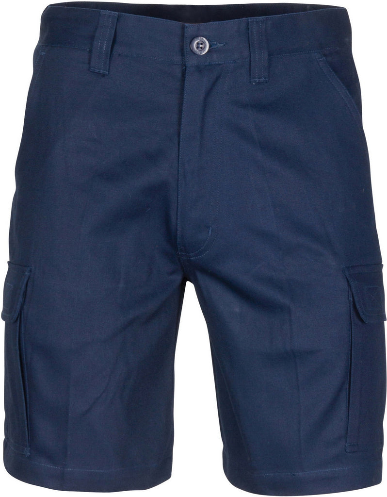 DNC Middle Weight Cotton Double Slant Cargo Shorts - With Shorter Leg Length (3358) - Ace Workwear