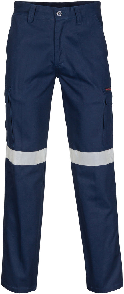 DNC's Middle Weight Cotton Double Angled Cargo Pants With CSR Reflective Tape - Ace Workwear