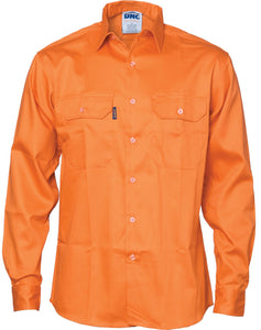 DNC Patron Saint® Flame Retardant Drill Shirt, Long Sleeve (3402)