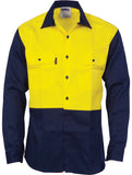 DNC Patron Saint® Flame Retardant Two Tone Drill Shirt - L/S (3406)
