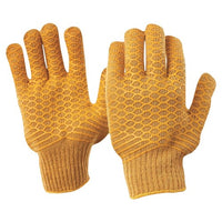 Pro Choice Brown Lattice Gloves Large - Pack (12 Pairs) (342CCL) - Ace Workwear